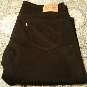 Men's Levi Strauss 569 Black Jeans